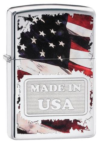 MADE IN USA TORN FLAG