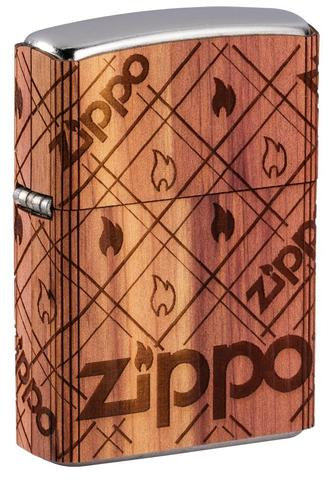 Woodchuck Wrap Zippo Flame