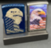 Bald Eagle & American Flag Zippo Lighters
