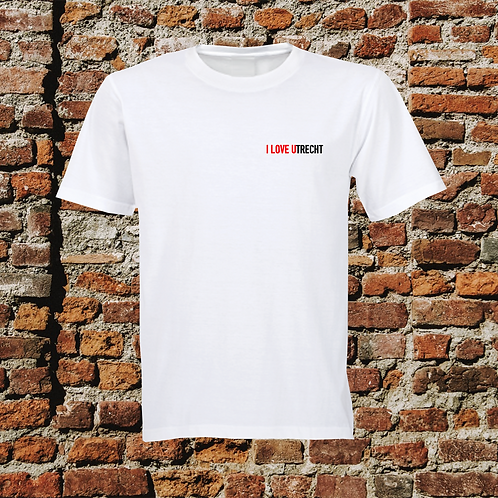 I Love Utrecht T-shirt Wit Unisex