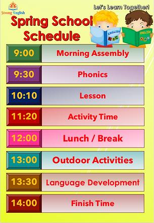 Spring School Schedule