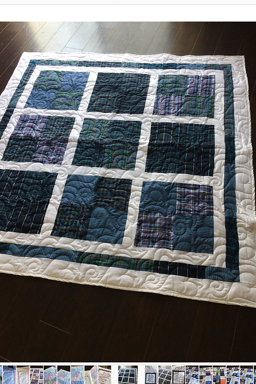 Patchwork Blocks with border Memorial Quilt
