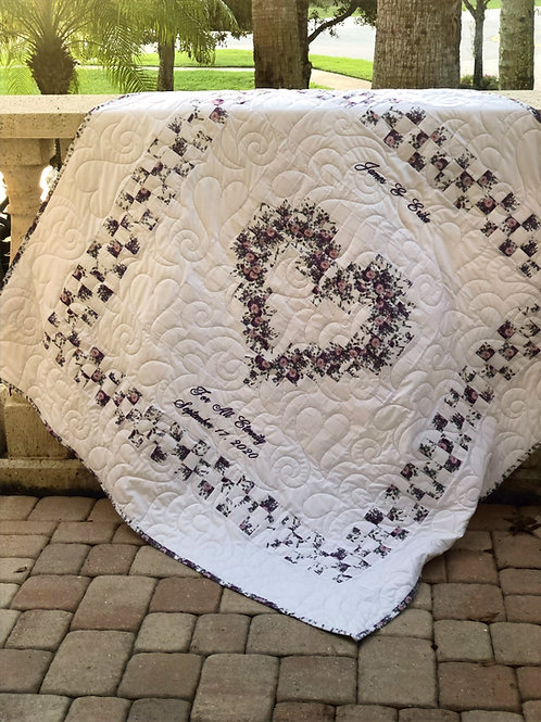 Personalized Family Heart Quilt
