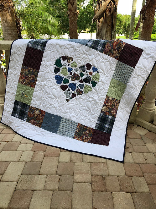 """Memorial Hearts Full of Love Digital Quilt Pattern 60""""x60"""""""