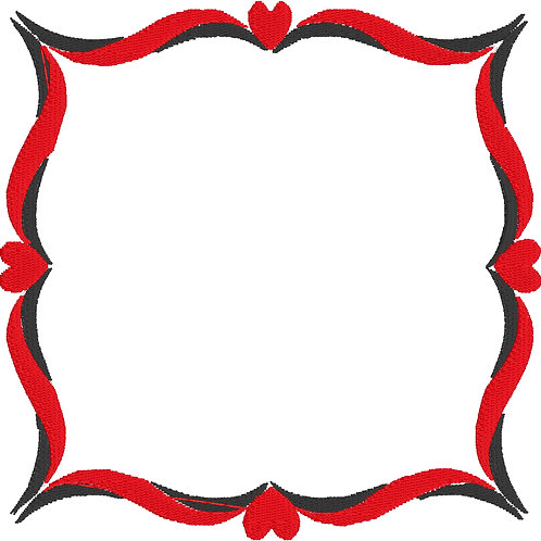 Heart Frame Embroidery File