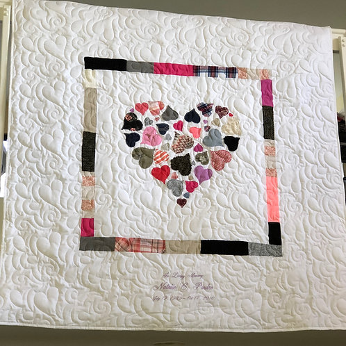 Hearts in a Heart Memorial Quilt