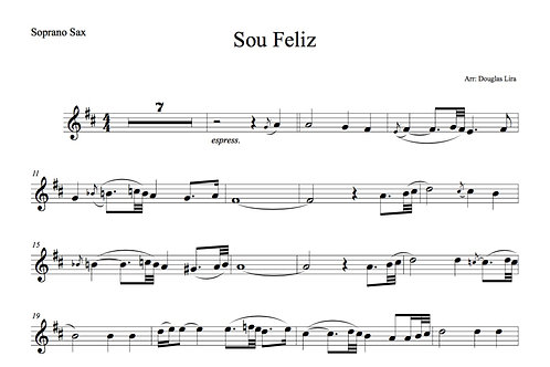 Sou Feliz - Sheet music