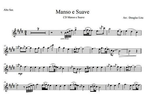 Manso e Suave - Sheet Music