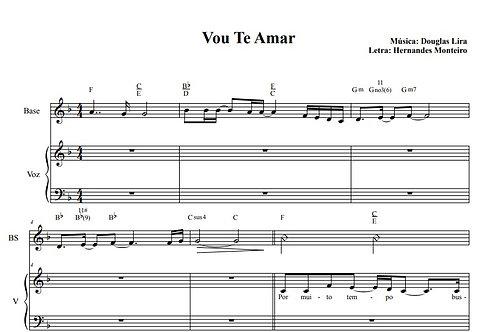 Vou te Amar - Sheet Music