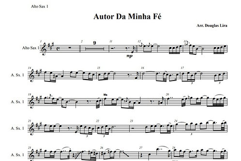 Autor da Minha Fé - Sheet Music