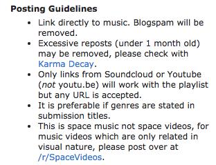 subreddit rules example
