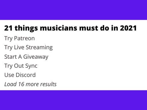 21 things musicians must do in 2021
