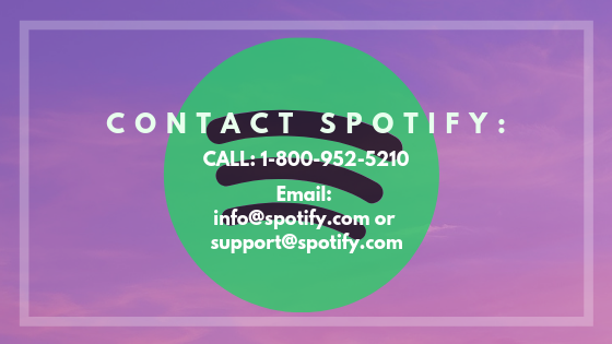 How Do I contact Spotify via mail or phone