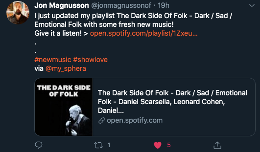 playlist curator shares the word about his new playlist update