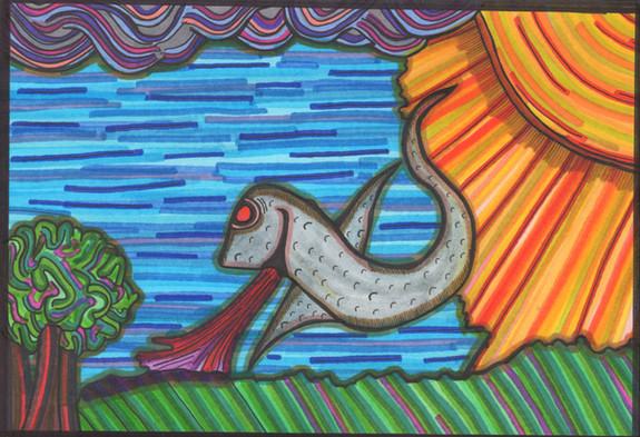 the lizard bird