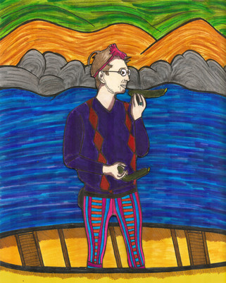a portrait of KM