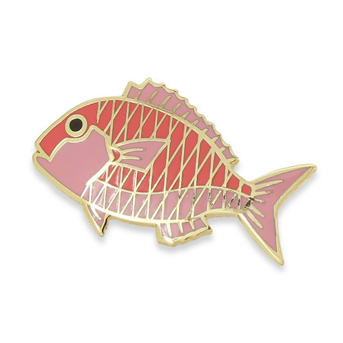 Tasty Fishes Pin Badge(Tai/Red Seabream)