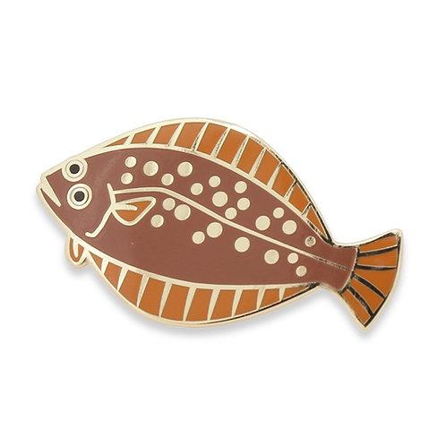 Tasty Fishes Pin Badge(Hirame/Flounder)