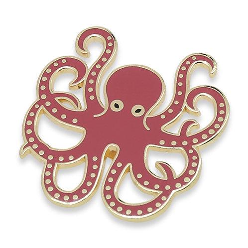 Tasty Fishes Pin Badge(Tako/Octopus)