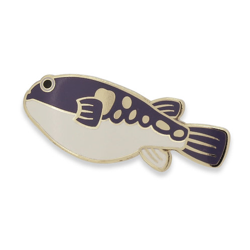 Tasty Fishes Pin Badge(Fugu/Blowfish)