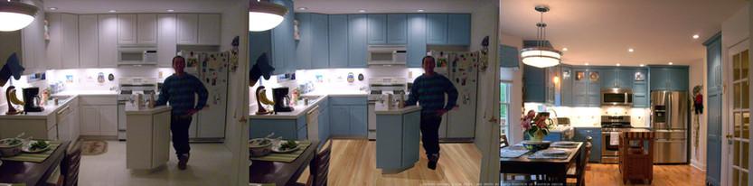 Interior Design Simulation - Before, Simulation, After
