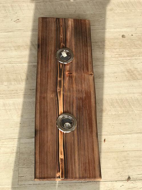 Lärche geflammt 80cm 2 LEDs Nr. 15