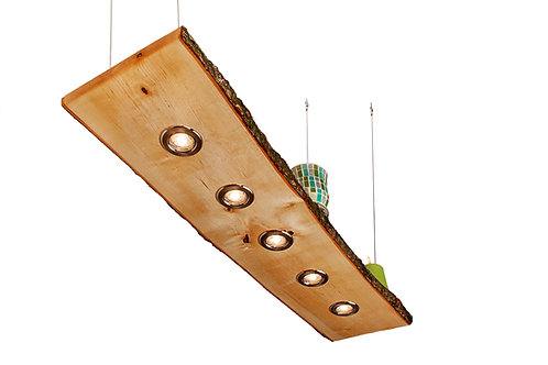 Birke Hängeleuchte mit Rinde 80cm - 120cm Smart Home