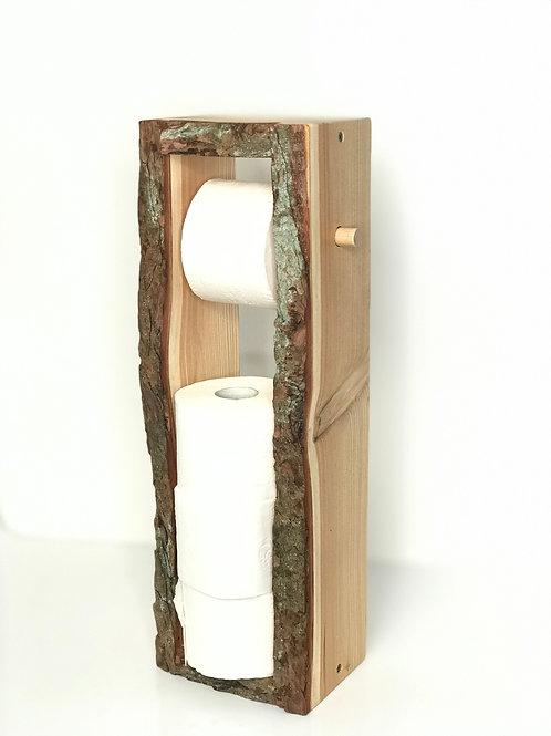 Toilettenpapierhalter aus Holz - eine Rolle Gratis -