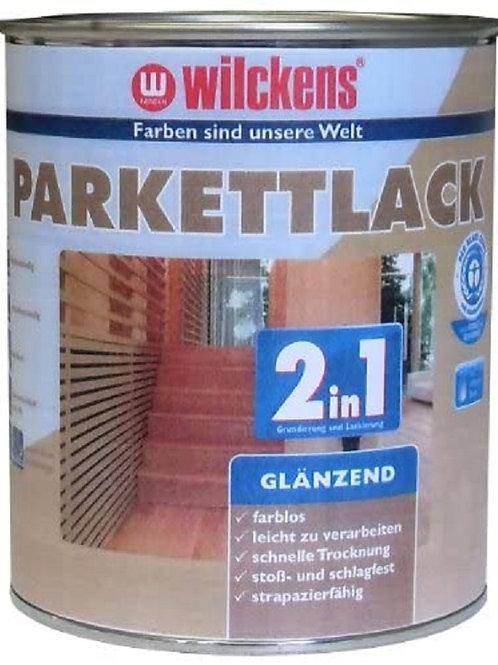 Wilckens 2 in 1 Parkettlack glänzend, farblos, 2,5 Liter 10400100080