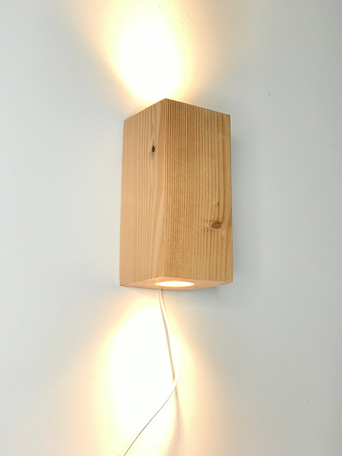 Wandlampe Lärche 12cm x 12cm x 25cm