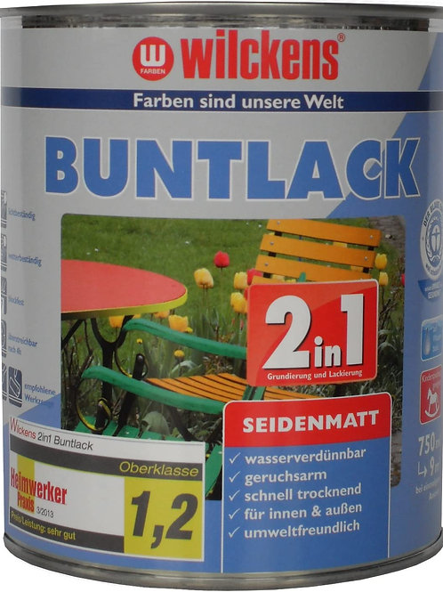 Wilckens 2in1 Buntlack seidenmatt, RAL 7035 lichtgrau, 750 ml 12473500050