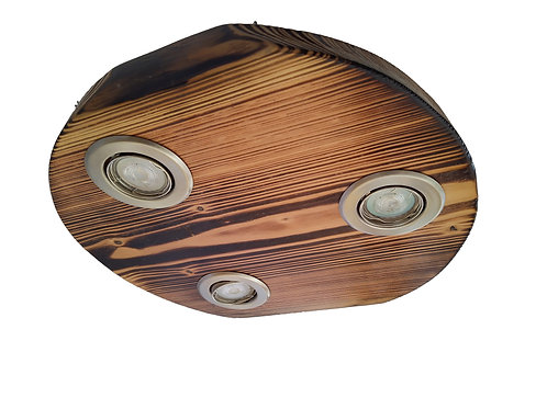 Deckenlampe Lärche geflammt rustikal Einzelstück