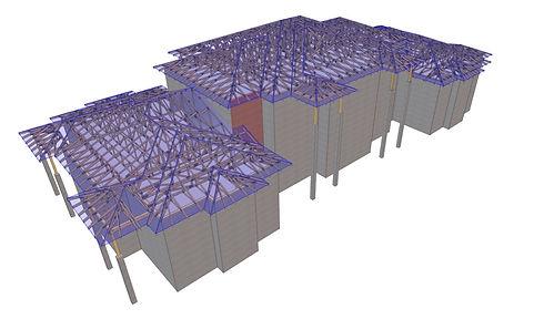 tető projekt statikai tervezési fázisa