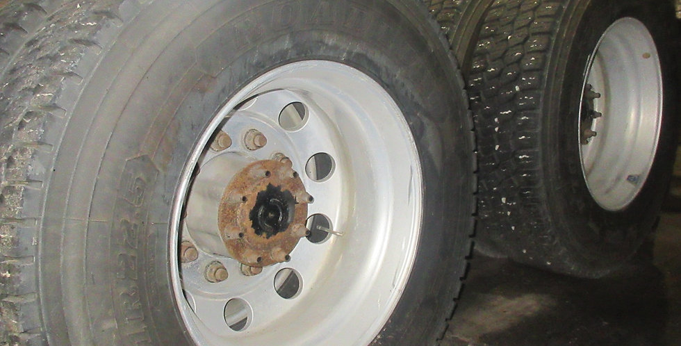 11R 22.5 Steer & Drive Tires w/ Rims