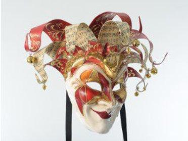 Venetian Joker Mask Red