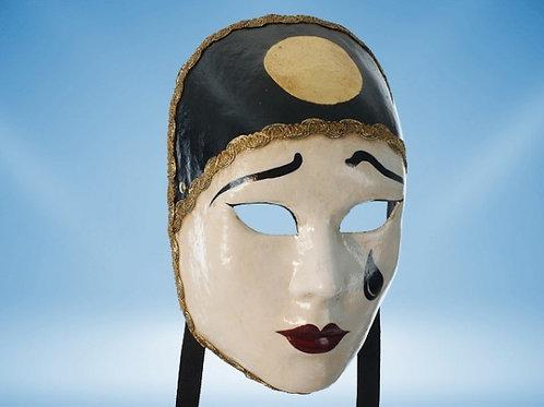 Venetian Pierrot Full Face Mask