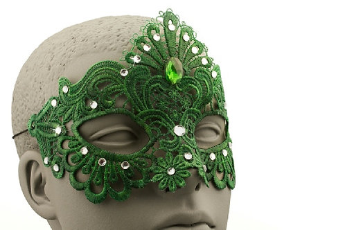 Green Lace Mask