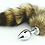 Thumbnail: DOMINIX Deluxe Stainless Steel Medium Faux Fox Tail Butt Plug