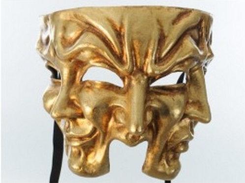 Halloween mask Gold