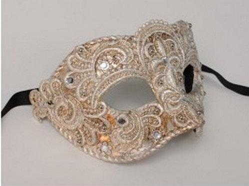 Male Masq. Mask Silver