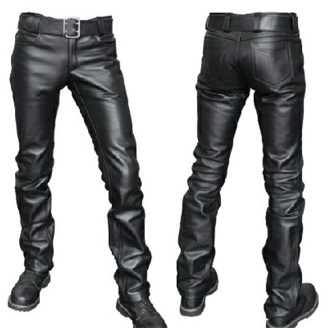 Leather  501 type Jeans