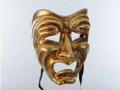 Tragedy Mask Gold