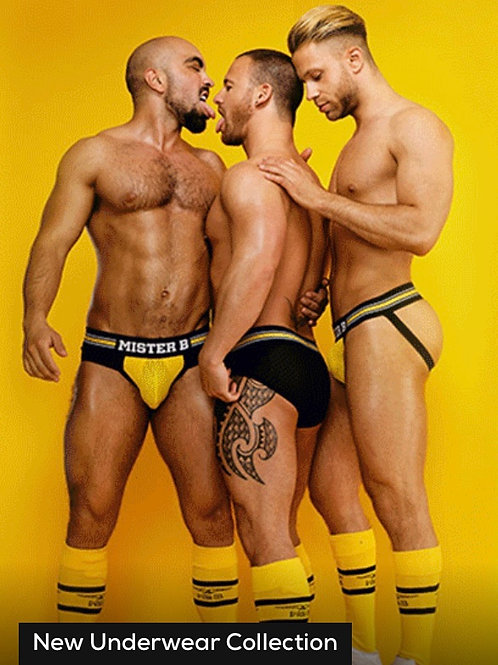 Mister B  (Full Brief) Black & Yellow