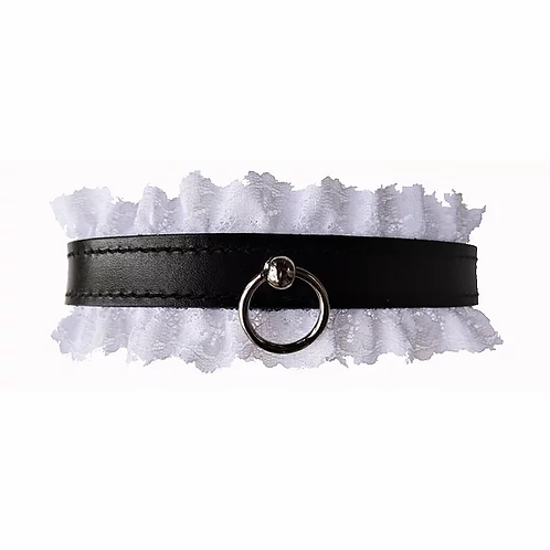 Leather / Lace Collar