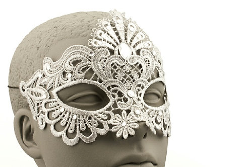 White Lace Mask