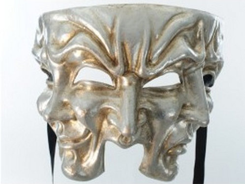 Halloween mask Silver