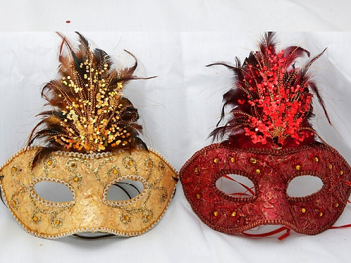 Glamour mask Gold/Red