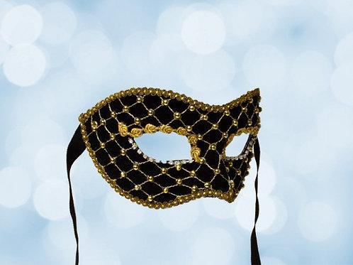 Venetian Ball Mask Black & Gold