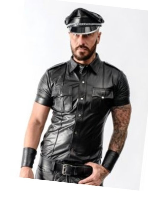 Leather Military Shirt