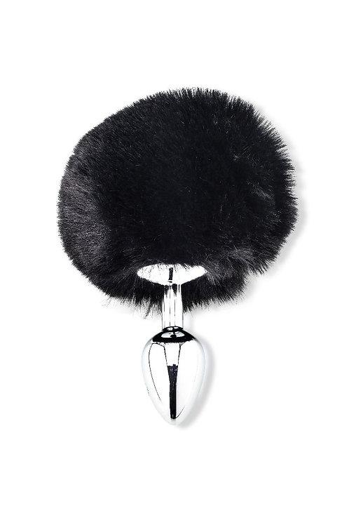 Fluffy Bunny , Black .